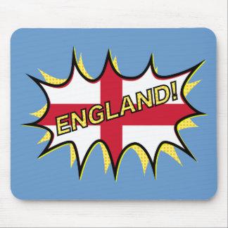 England Flag Kapow Comic Style Star Mouse Pad