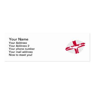 England flag kiss business card templates