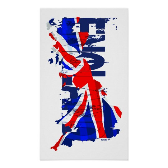 England Flag Map 02 Poster