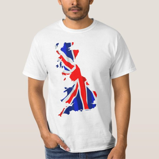 England Flag Map 2Side T-Shirt