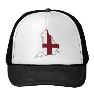 England Flag Map Hats
