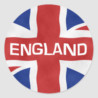England Flag of the United Kingdom (UK) Round Sticker