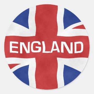 England Flag of the United Kingdom (UK) Round Sticker