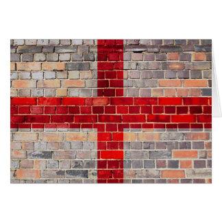 England flag on a brick wall card
