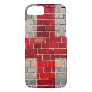 England flag on a brick wall iPhone 8/7 case