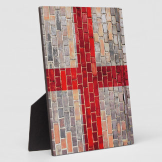 England flag on a brick wall plaque