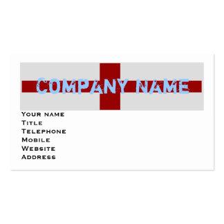 England Flag Pack Of Standard Business Cards
