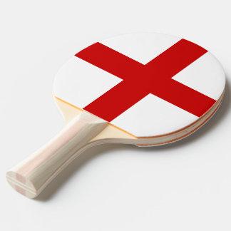 England Flag Ping Pong Paddle
