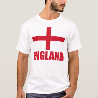 England Flag Red Text T-Shirt