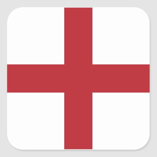 England flag square sticker
