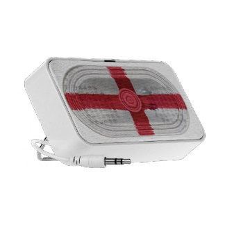 England Flag St Georges Cross Red Cross On White Travelling Speakers