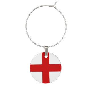 England Flag Wine Charm