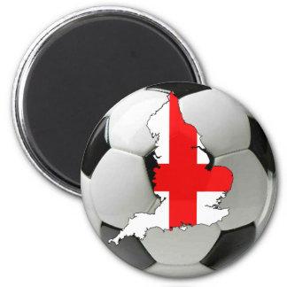 England football 6 cm round magnet