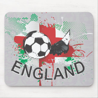 England football and soccer cleat design mouse pad