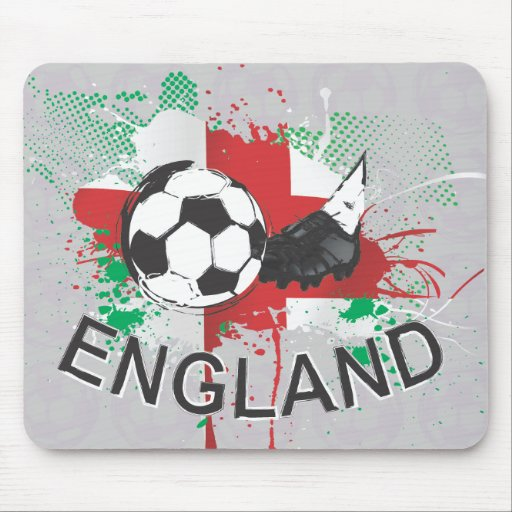 England football and soccer cleat design mousepads