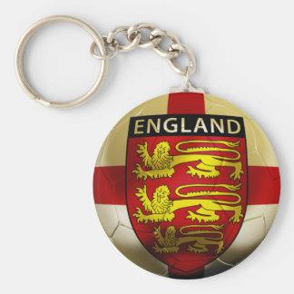 England Football Basic Round Button Key Ring