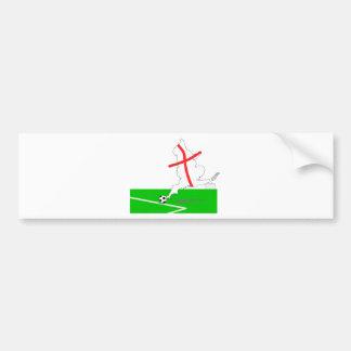 ENGLAND Football Team White Background Bumper Sticker