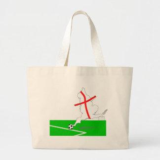 ENGLAND Football Team White Background Jumbo Tote Bag