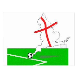 ENGLAND Football Team White Background Postcard