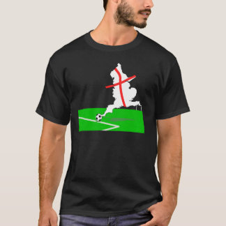 ENGLAND Football Team White Background T-Shirt