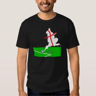 ENGLAND Football Team White Background T-shirts