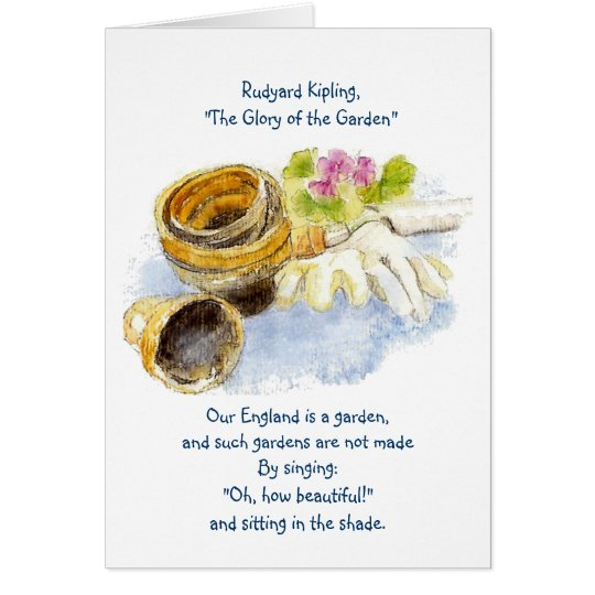 England Garden Verse with Watercolor Painting Card