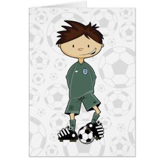 England Goalkeeper Soccer Boy Card