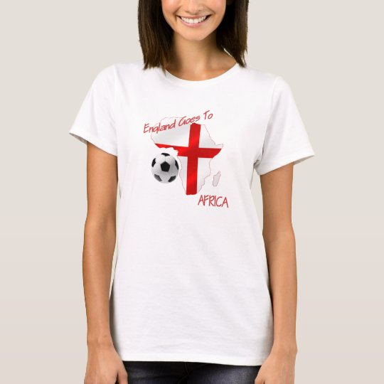 England Goes to Africa St Georges Football flag T-Shirt