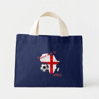 England Goes to Africa St Georges Football flag Mini Tote Bag