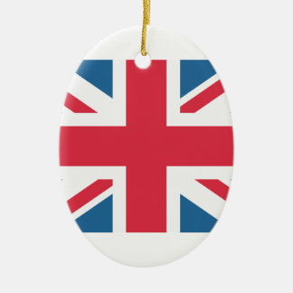 England - Great Britain flag from Twitter emojis Ceramic Oval Decoration