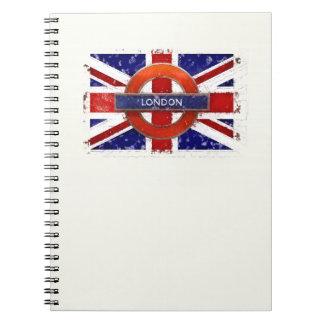 England, Great Britain, Union Jack, Grunge flag Spiral Notebook