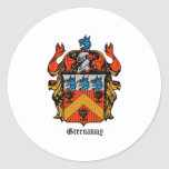 ENGLAND GREENAWAY COAT OF ARMS CLASSIC ROUND STICKER