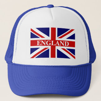 England hat with british union jack flag