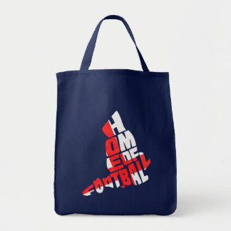 England Home of Football Grocery Tote Bag
