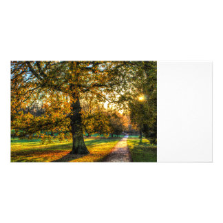 England in Autumn Customized Photo Card