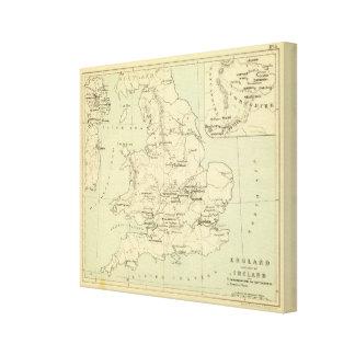 England, Ireland Canvas Print