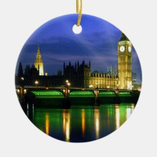 England Landscape Christmas Ornament
