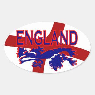 England Lion Roar St George  Oval sticker