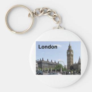 England London Big Ben (St.K) Basic Round Button Key Ring