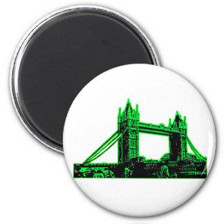 England London Bridge Green Black The MUSEUM Zazzl Magnet