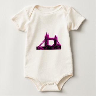 England London Bridge Magenta Black The MUSEUM Zaz Baby Bodysuit