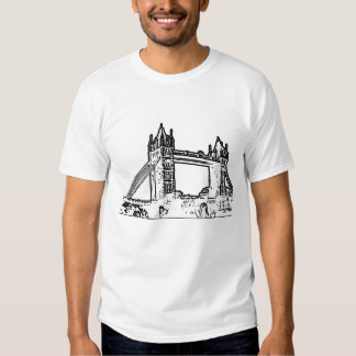 England London Bridge White Black The MUSEUM Zazzl T Shirts