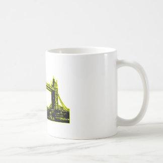 England London Bridge Yellow Black The MUSEUM Zazz Basic White Mug