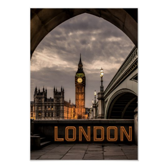 England London City Big Ben Landmark Poster