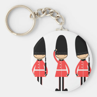 England London Guard Design Basic Round Button Key Ring