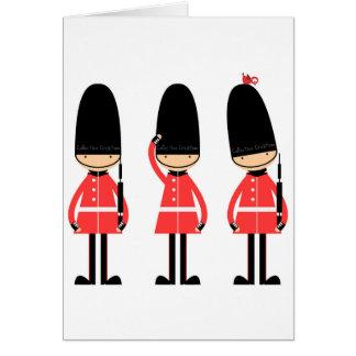 England London Guard Design Greeting Card