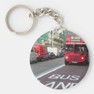 England London RedBus (new) (St.K) Basic Round Button Key Ring
