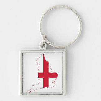 England London Silver-Colored Square Key Ring