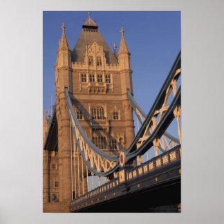 England, London, The Tower Bridge Poster
