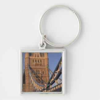 England, London, The Tower Bridge Silver-Colored Square Key Ring